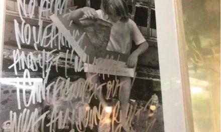 【福岡・薬院】プラセールワークショップ(原生種の蘭専門店)で、E_WAX氏と内田氏のコラボT。