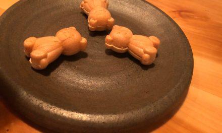 【福岡グルメ】焼き鳥「ひょご鳥」さん、のクマの形をした、これ何だ?