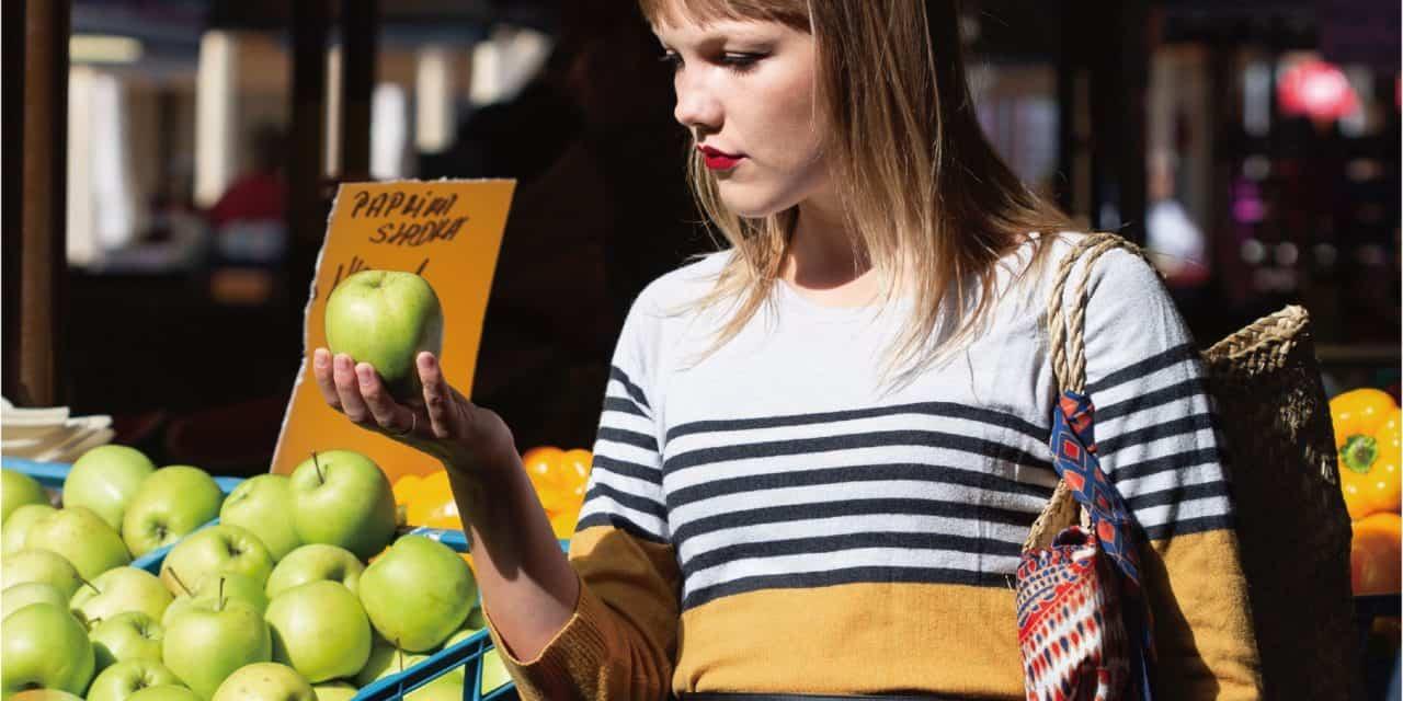 【シャイニージェル】美味しそうなグリーンアップルで作る個性派ネイル