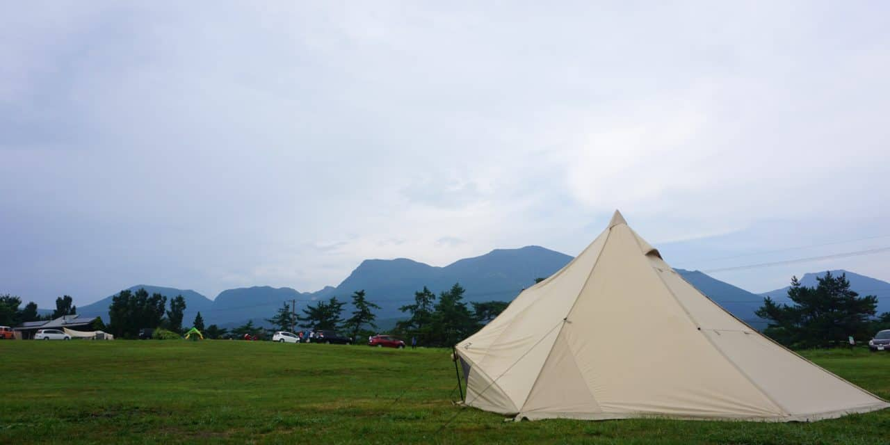 【大分・久住高原】九重連山のもと、遊牧民気分を味わおう〝ボイボイキャンプ場〟